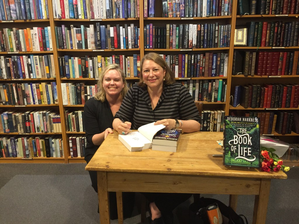 Ginger with Deborah Harkness at Seattle book signing