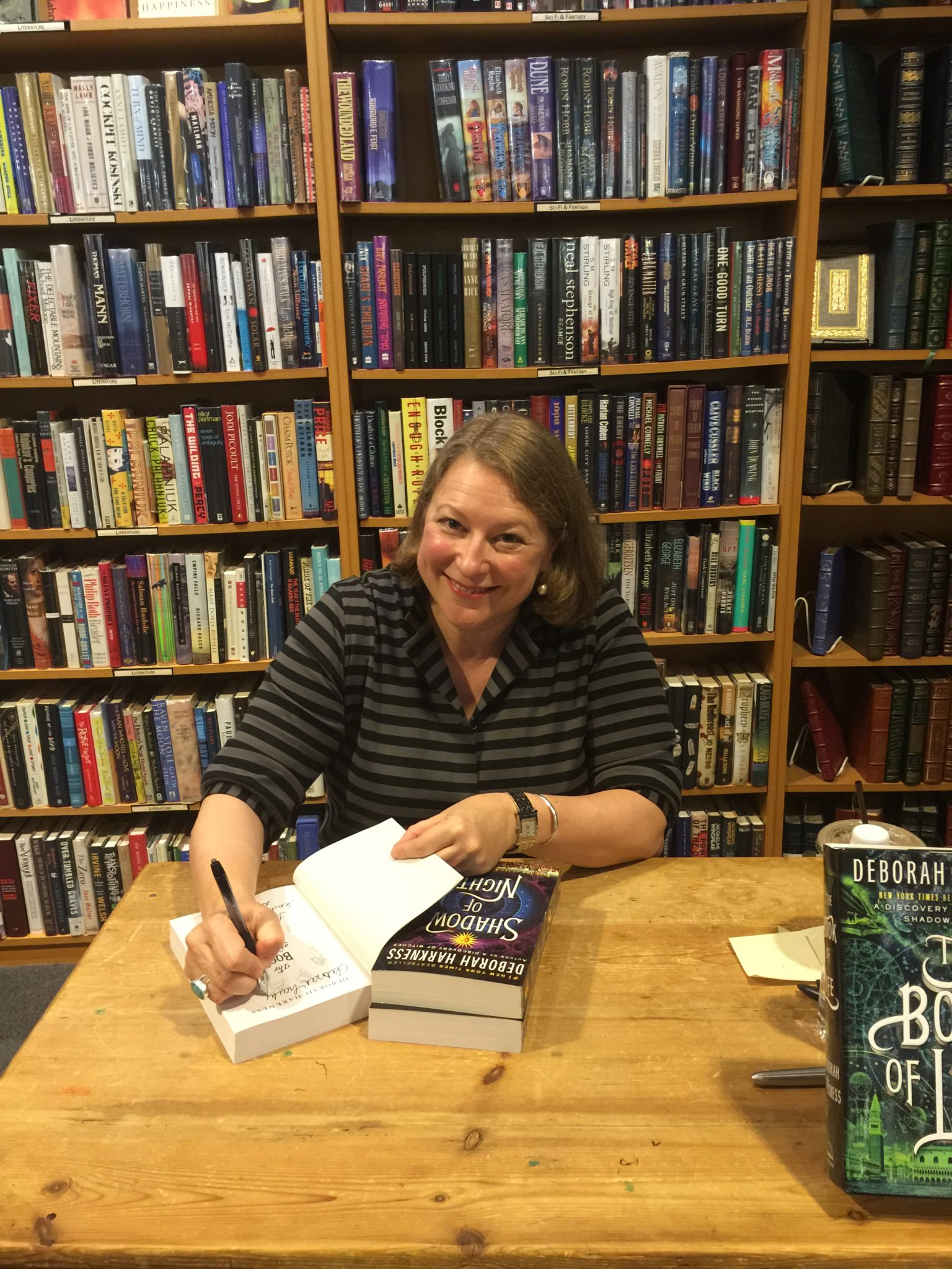 Deborah Harkness at Seattle 'The Book of Life' paperback release tour
